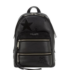 Star Patchwork Leather Backpack