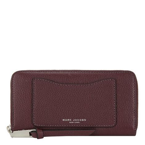 Vertical Zip-Around Wallet, ${color}
