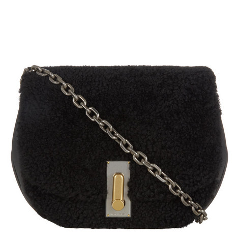 West End The Jane Shearling Saddle Bag, ${color}