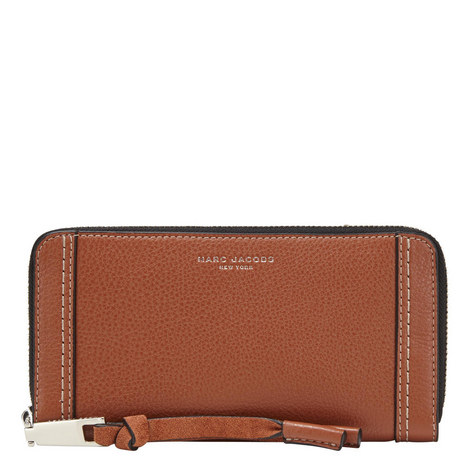 Maverick Zip-Around Leather Wallet, ${color}