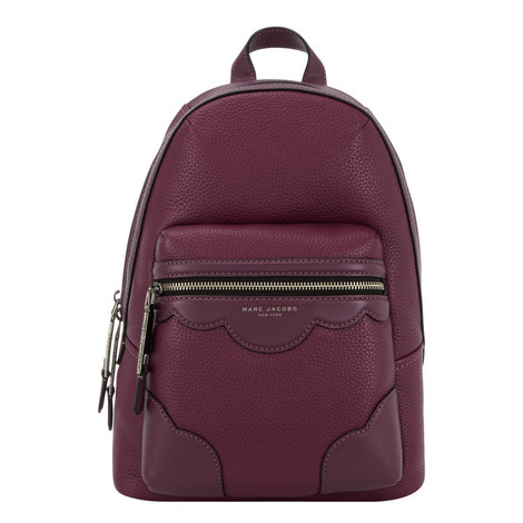 Haze Scalloped Leather Backpack, ${color}