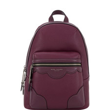 Haze Scalloped Leather Backpack