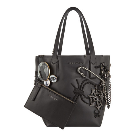Wingman Gothic Leather Shopping Tote, ${color}