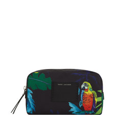 Parrot Canvas Cosmetic Bag Large