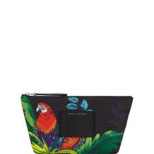 Parrot Canvas Cosmetic Bag Medium