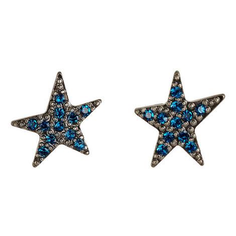 Pavé Star Stud Earrings, ${color}