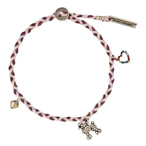 Poodle Macramé Bracelet, ${color}