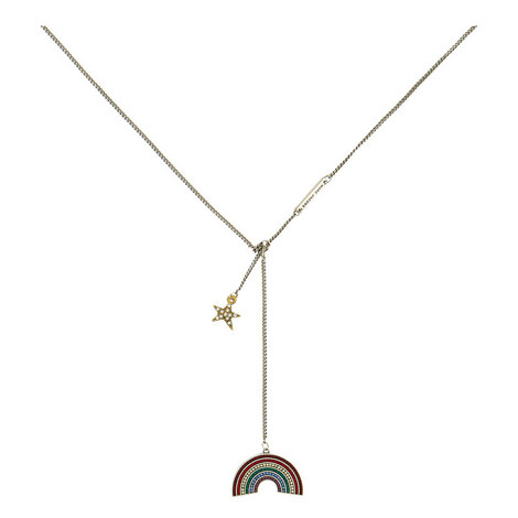 Rainbow Star Necklace, ${color}