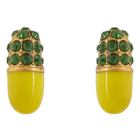 Pills Strass Stud Earrings, ${color}