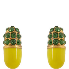 Pills Strass Stud Earrings