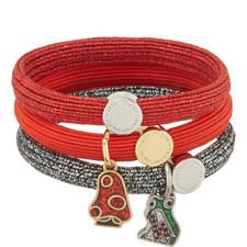 Mushroom Charm Woven Bracelets