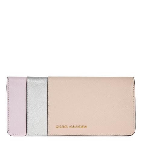 Colour Block Open Front Wallet, ${color}