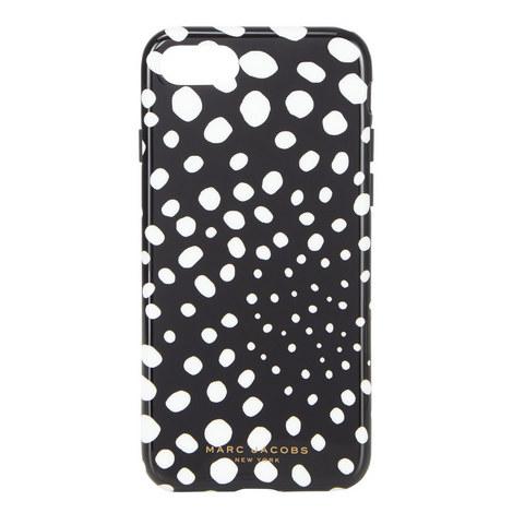 Wavy Spot Print iPhone 7 Case, ${color}