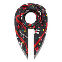 Flower and Heart Silk Scarf, ${color}