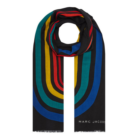 Vintage Stripe Logo Scarf, ${color}