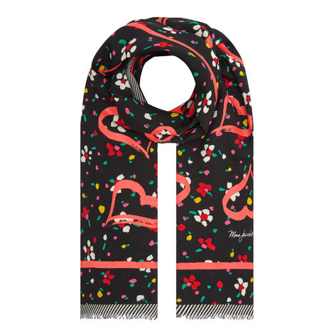 Flower and Heart Wool Scarf, ${color}