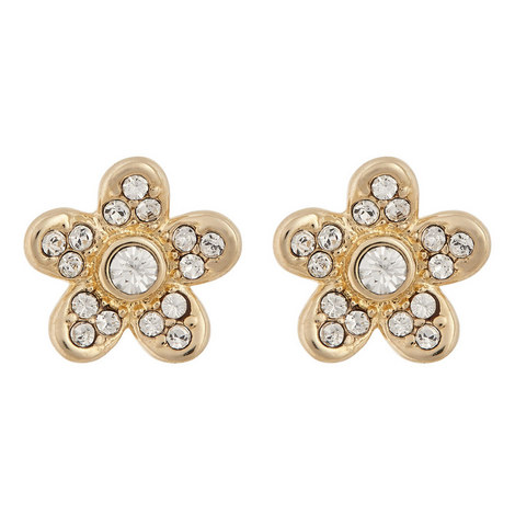 Floral Stud Earrings, ${color}