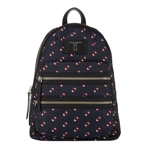 Scream Printed Monogram Backpack, ${color}