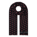 Monogram Scream Logo Scarf, ${color}