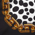 Animal and Chain Silk Scarf, ${color}