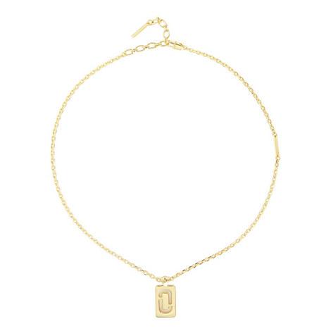 Double-J Pendant Necklace, ${color}