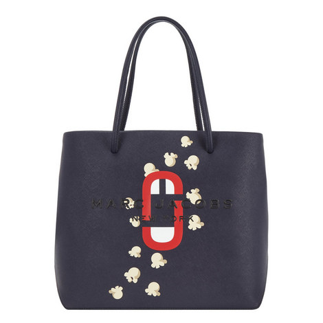 Logo East West Popcorn Tote Bag, ${color}