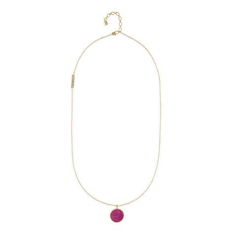 Pavé Double-Sided Pendant Necklace , ${color}