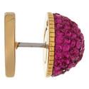 Medallion Crystal Pavé Earrings, ${color}