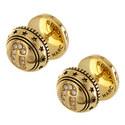 Reversible Medallion Stud Earrings, ${color}