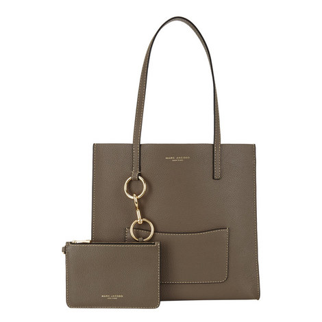 Pocket East West Shopper Bag, ${color}