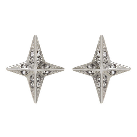 Brilliance Star Stud Earrings, ${color}