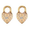 Logo Love Heart Stud Earrings, ${color}