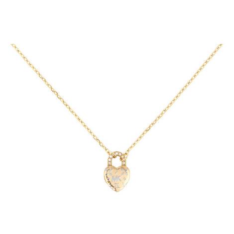 Logo Love Heart Pendant Necklace, ${color}