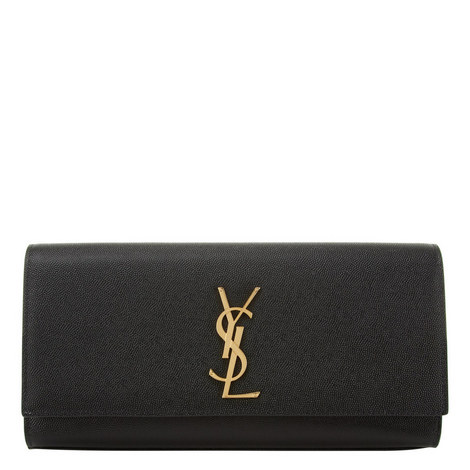 Monogram Leather Clutch, ${color}