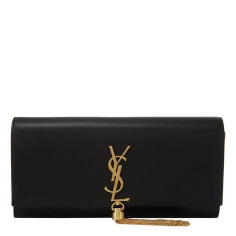Kate Monogram Tassel Clutch Bag, ${color}