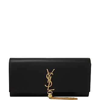 Kate Monogram Tassel Clutch Bag