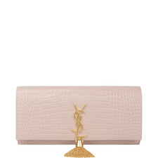 Kate Monogram Tassel Clutch