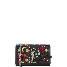 Monogram Embellished Chain Strap Bag