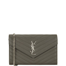 Monogram Quilted Chain Wallet