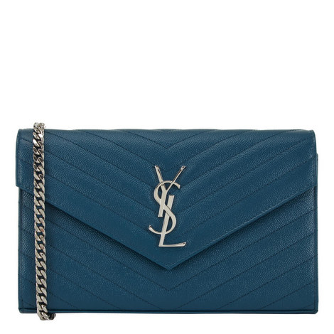 Monogram Quilted Chain Wallet, ${color}