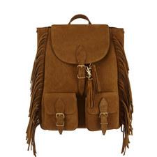 Festival Fringe Leather Backpack