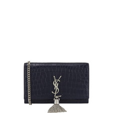 Kate Croc-Embossed Chain Wallet