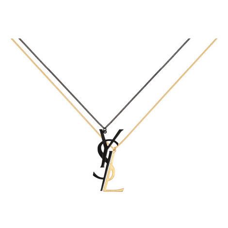 Deconstructed Monogram Necklace, ${color}
