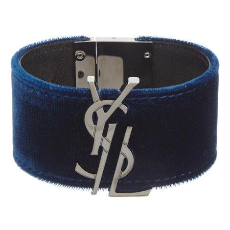 Monogram Velvet Bracelet, ${color}