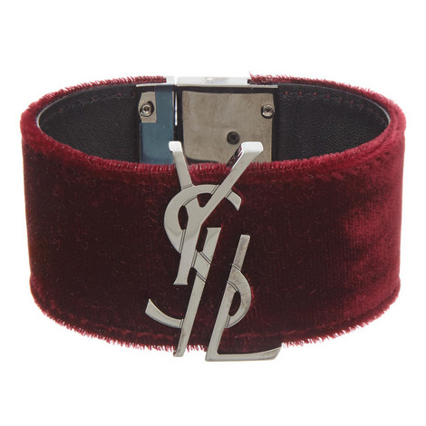 Monogram Velvet Bracelet, ${color}