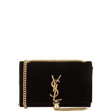 Kate Monogram Velvet Bag Small