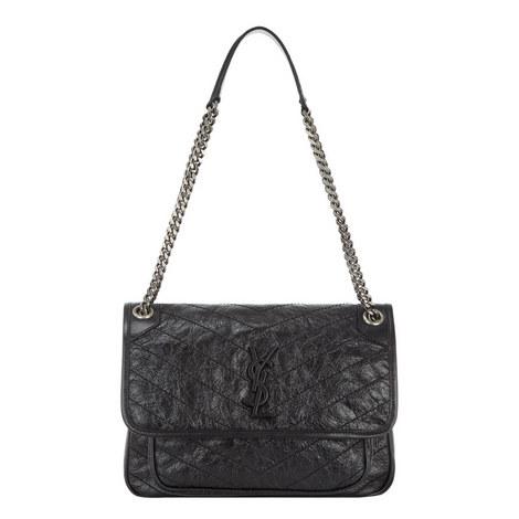 Vintage Niki Monogram Shoulder Bag, ${color}