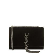 Monogram Kate Velvet Tassel Bag
