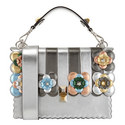 KAN I Floral Stripe Leather Shoulder Bag, ${color}