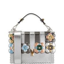 KAN I Floral Stripe Leather Shoulder Bag